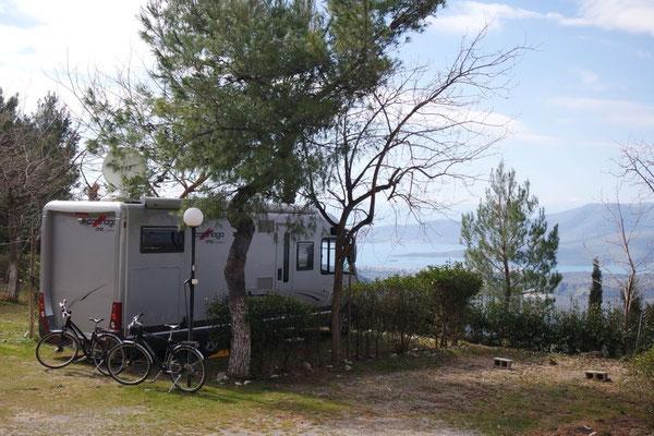 In Delphi auf dem Campingplatz