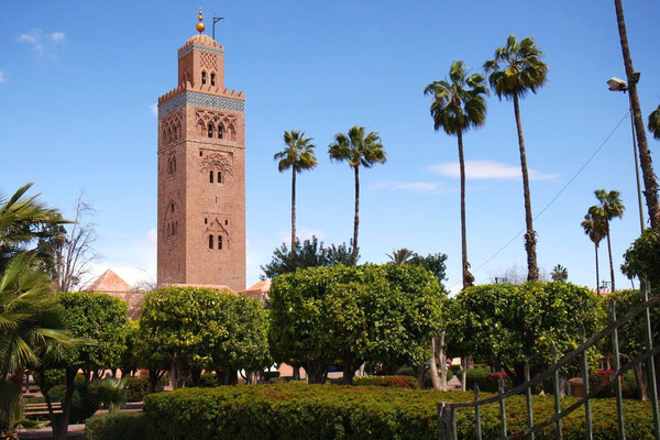 Die berühmte Koutoubia Moschee in Marrakech