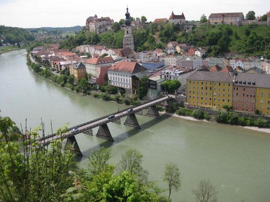 Die Brücke über die Salzach nach Österreich