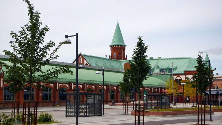 Schmucke Centralstation von Trelleborg