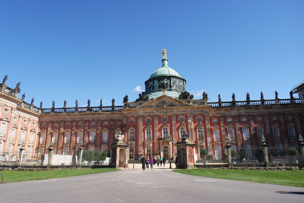 """Das """"Neue Palais von Sanssouci"""", das prunkvolle Gäste-Empfangsschloss von damals"""