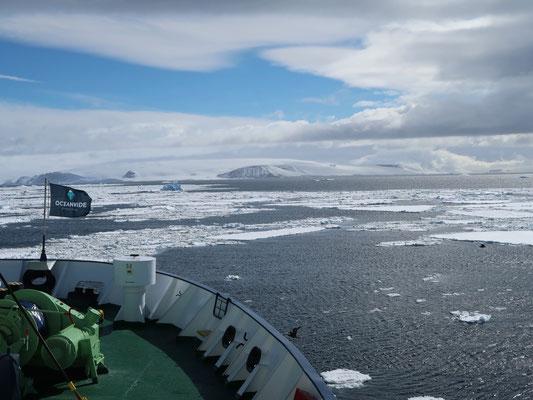 Auf geht's in die Weddell-Sea
