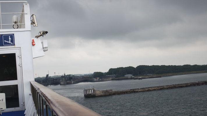 Die Prinsesse Benedikte nimmt Kurs auf  Rödby, die Insel Lolland/DK ist in Sicht
