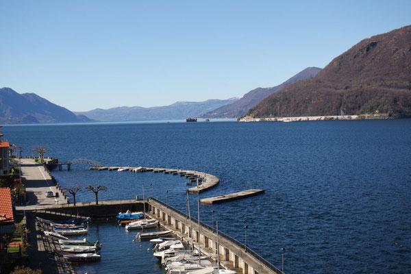 Der kleine Hafen von Maccagno