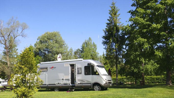 Übernachtung im  naturnahen  Camping von Cesis