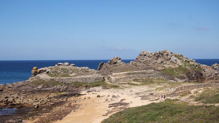 """Die keltische Siedlung """"Castro de Barona"""", ca. 20 km nördlich von Ribeira. Eine etwas zügige Wohnlage für die damalige Bauweise"""