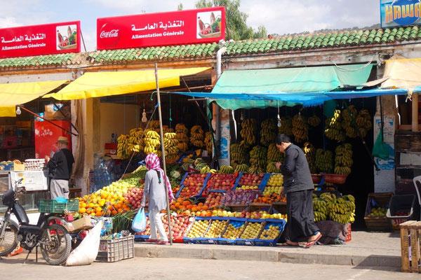 Bananenkauf in Tamir - Marokko ist auch ein Bananenland