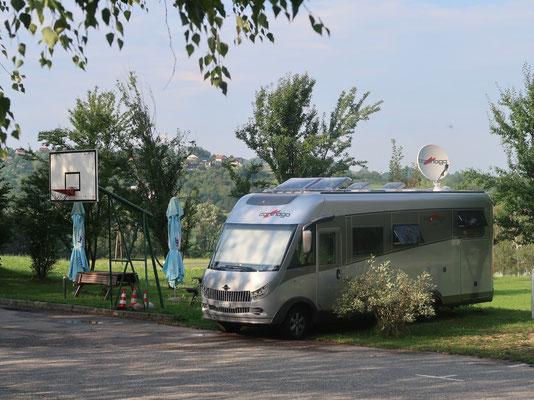 Letzte Übernachtungen  bei Maribor, kurz vor der Grenze zu Österreich