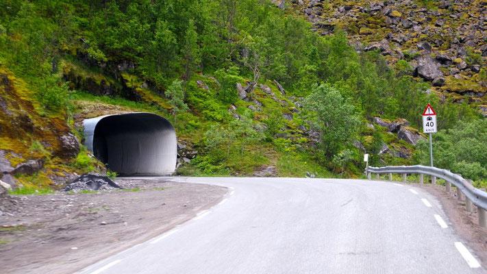 In Sachen Tunnels sind die Norweger Meister! Auch die Blechform als Eingang ist keine seltene Variante
