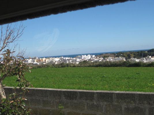 Die Aussicht vom Frühstückstisch in Otranto