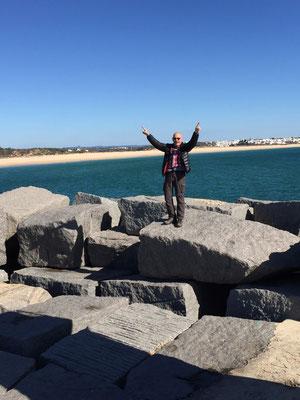 Barni als kleiner Cristo Rei in der Algarve!