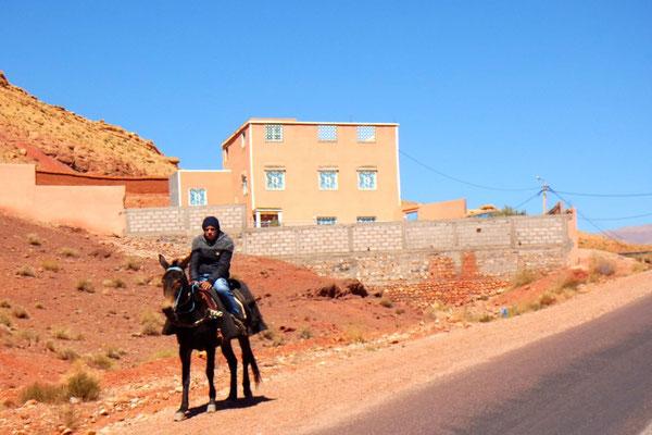 Auf dem Weg zur Dadès-Schlucht