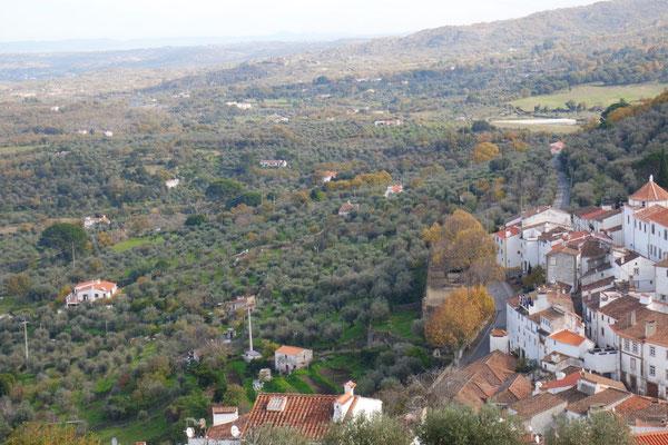 Ausblick von der Burgruine von Castelo de Vide
