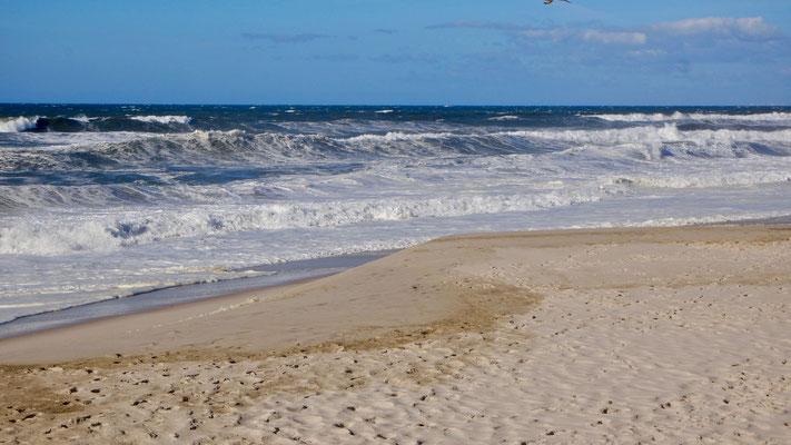Praia do Furadouro am Atlantik zwischen Porto und Aveiro