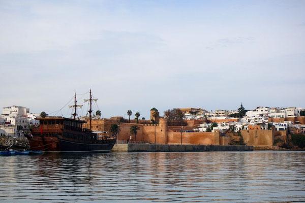 Blick zur Kasbah Oudaias, die Festung von Rabat