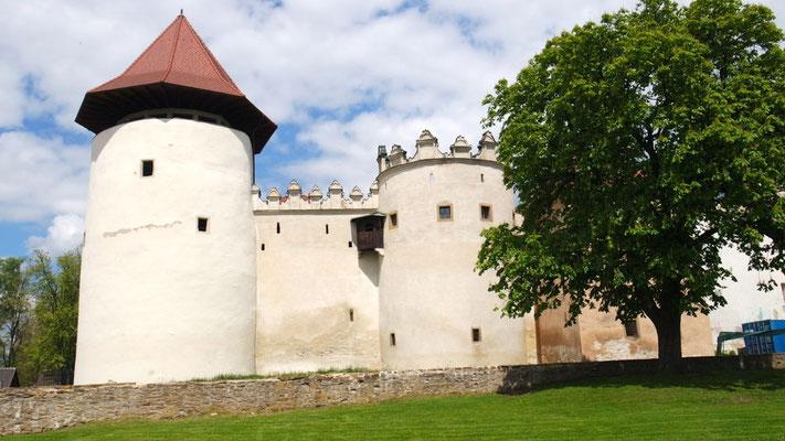 Die imposante Burg im Städtchen Kezmarok