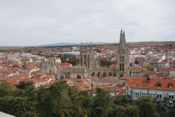 Ausblick vom Castelo in Burgos auf die Stadt