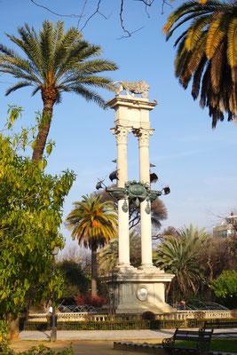 Das Columbus-Denkmal in Sevilla