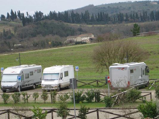 Ausblick in die Toscana-Landschaft von Monteriggioni