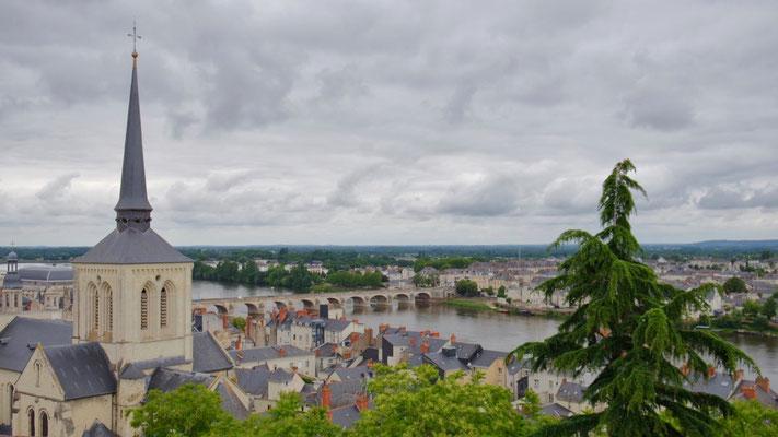 Ausblick auf Saumur an der Loire
