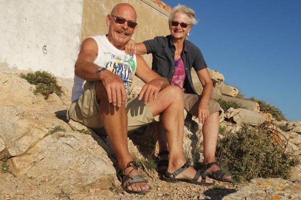Warten auf den Sonnenuntergang am Cabo Espichel