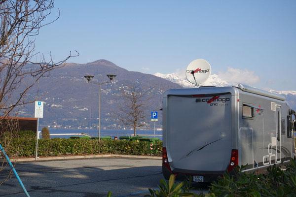 Am Lago Maggiore auf dem Stellplatz