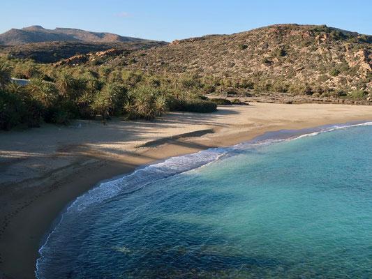 Nur ein schmaler Streifen des Strandes ist noch öffentlich zugänglich