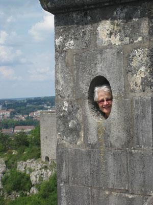 Guguseli auf der Ringmauer