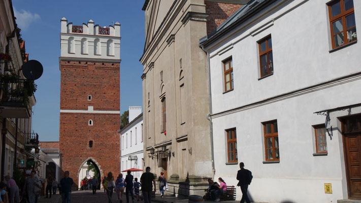 Das Opatower-Stadttor von Sandomierz, errichtet im 14. Jahrhundert