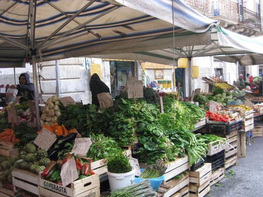 Marktstimmung in Siracusa