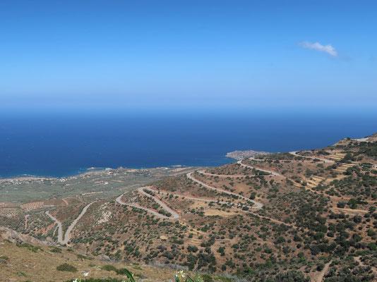 Auf der Küstenstrasse von Elafonisos nach Kissamos