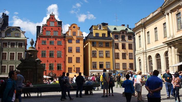 Unterwegs in der Gamla Stan (Altstadt) von Stockholm