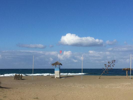 Verlassener Strand-Anblick