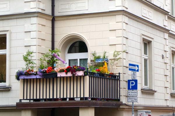 Balkonpracht mitten in  Schwerin
