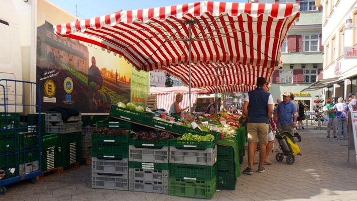 Marktstimmung am Marktplatz