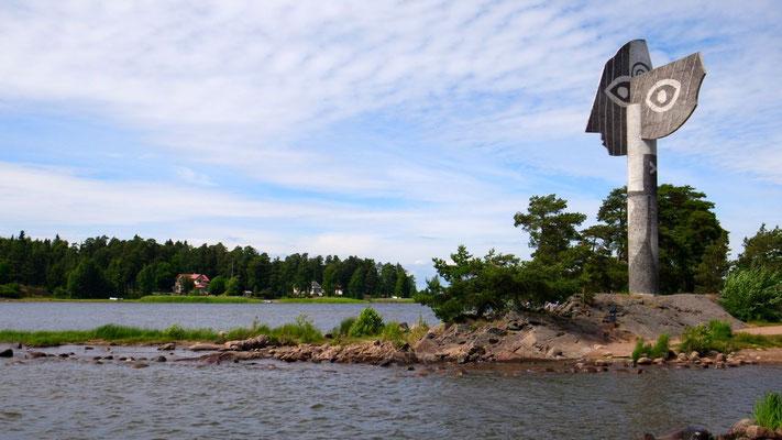 In Kristinehamn am Vänern-See thront die Picasso-Skulptur, unverkennbar ist des Meisters Handschrift