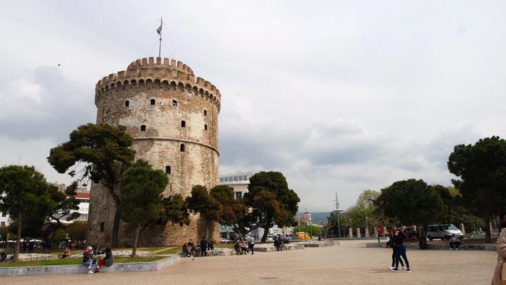 Der Weisse Turm, das Wahrzeichen der Stadt. Erbaut im 15./16. Jahrhundert diente er als Befestigungsanlage und Gefängnis