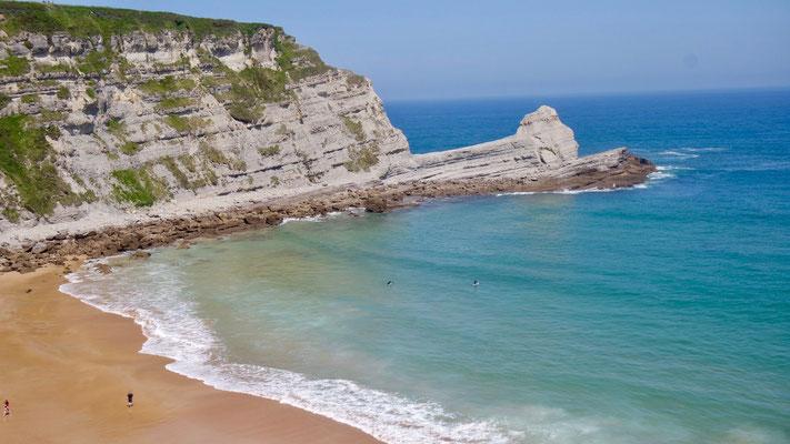 Die traumhafte Playa de Langre.....