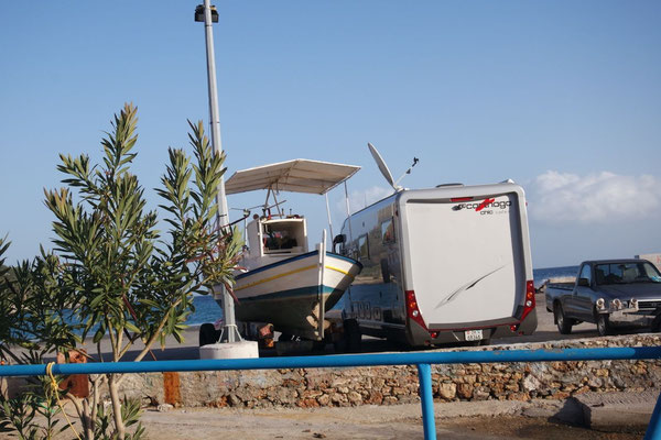 Exklusiver Standplatz im Hafen von Monemvasia - die Holländer sind bereits weitergezogen