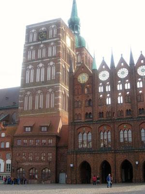 Besonderes Rathaus von Stralsund