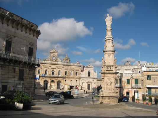 Piazza principale in Ostuni