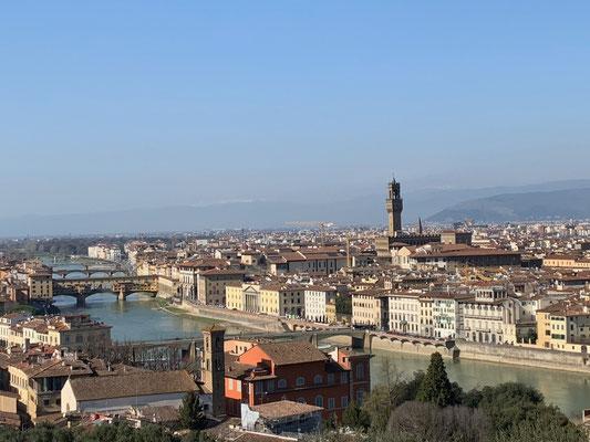 Prächtiger Ausblick von der Piazzale Michelangelo