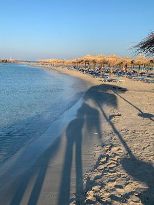 Die einsame Beach-Morgenstimmung dauert maximal bis 09:00 Uhr