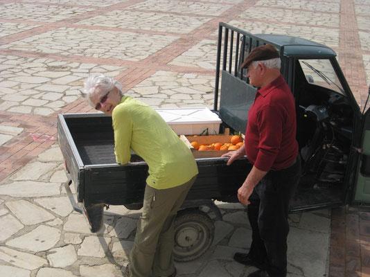 Orangen gefällig? Lieferung frei Haus per Motocari
