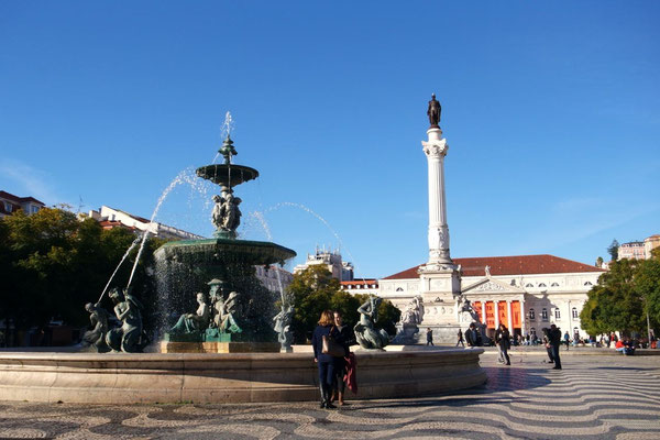 Der Praça Rossio - verschwunden sind die Weihnachtsstände