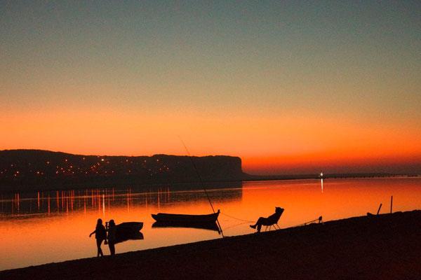 Abendliche Romantik an der Lagune