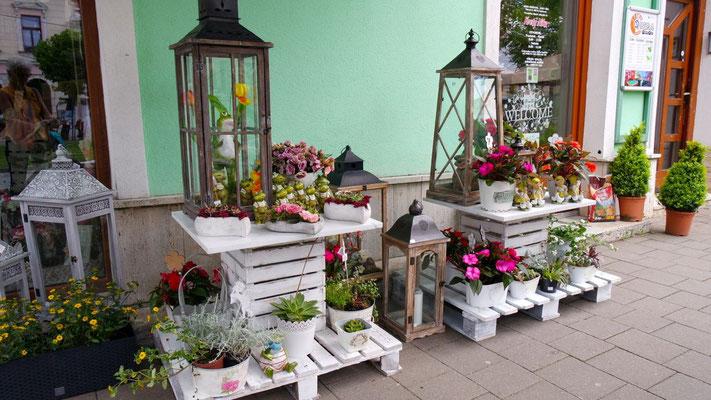 Hübsches Blumenlädeli in Kezmarok