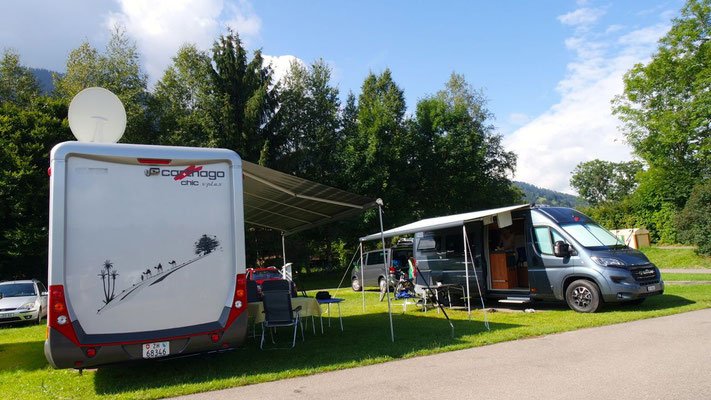 Freudiges Wiedersehn auf dem Camping in Bühl am Grossen Alpsee