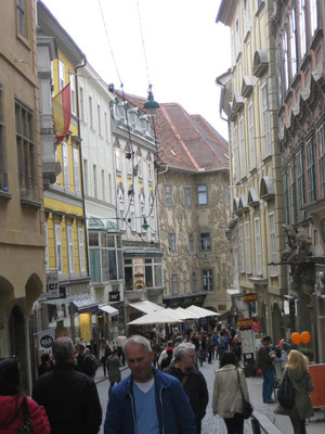 Belebte Grazer-Altstadt