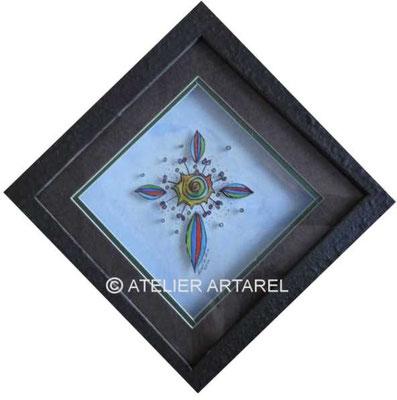 Buntes Kreuz, 3-D Bildobjekt